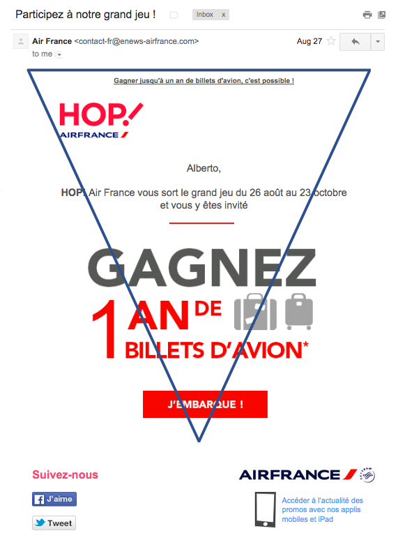Air France y su pirámide invertida
